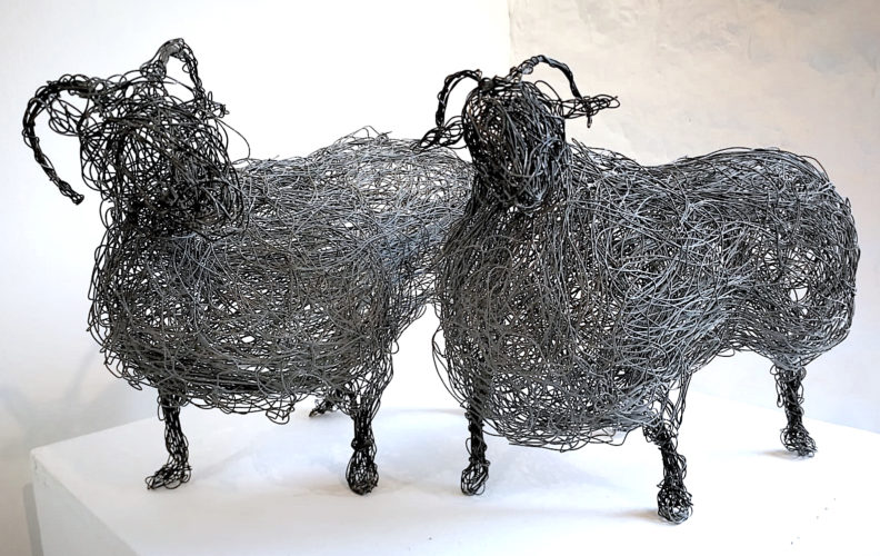 Wire Sheep by Sophie Ryder at
