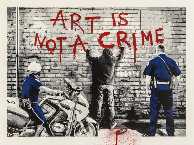 Art is not a crime by Mr Brainwash