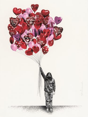 Love is in the Air by Mr Brainwash