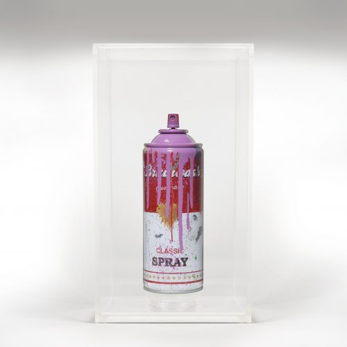 Spray Can Purple by Mr Brainwash