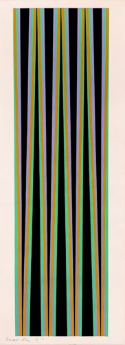 Elongated Triangle 6 by Bridget Riley