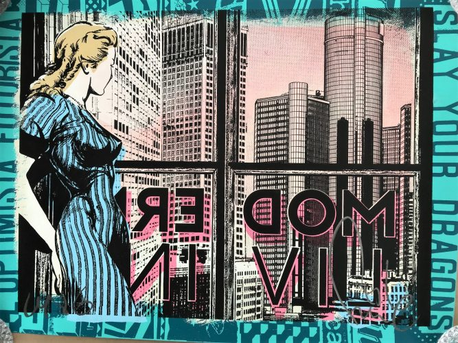 Modern Living by Faile at