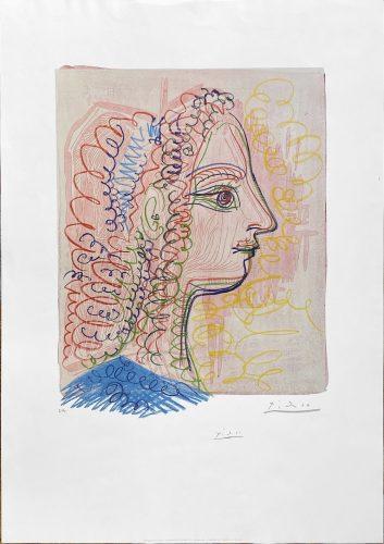 Femme de Profil by Pablo Picasso (after)