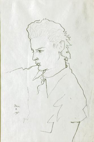 Portrait de Georges Marchal by Jean Cocteau