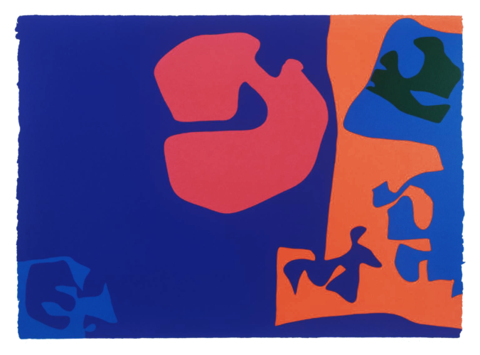 January 1973: Plate 17 by Patrick Heron