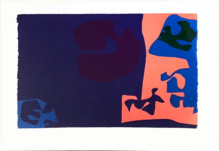January 1973: Plate 18 by Patrick Heron