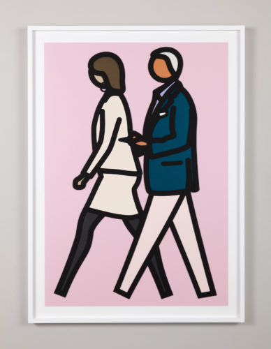 New York Couple 7 by Julian Opie at