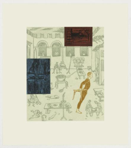 Interiors 1. (Cezanne's legs) by Michael Krueger