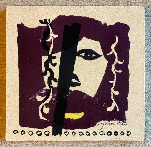 Mauve, Yellow and Black face by John Piper