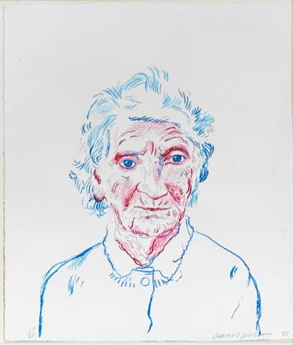 Portrait of Mother 3 by David Hockney
