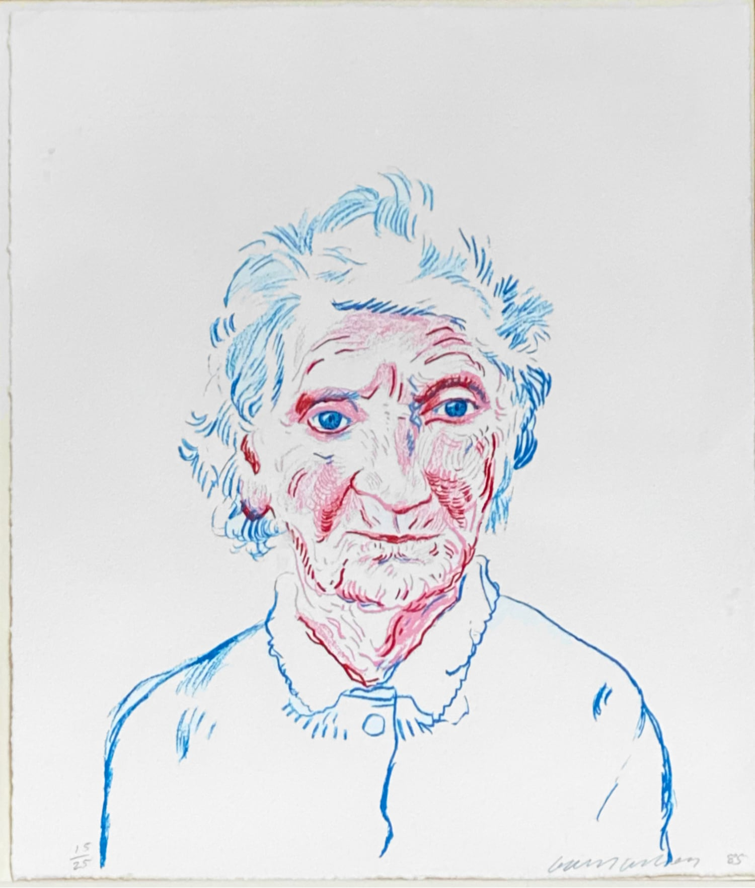 Portrait of Mother 3 by David Hockney
