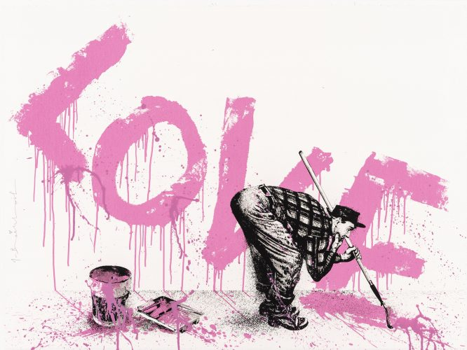 All You Need is Love 2 (Pink) by Mr Brainwash