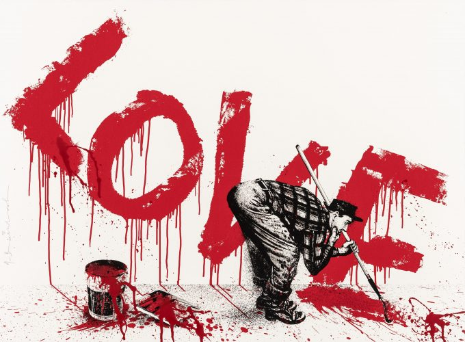 All You Need is Love 2 (Red) by Mr Brainwash