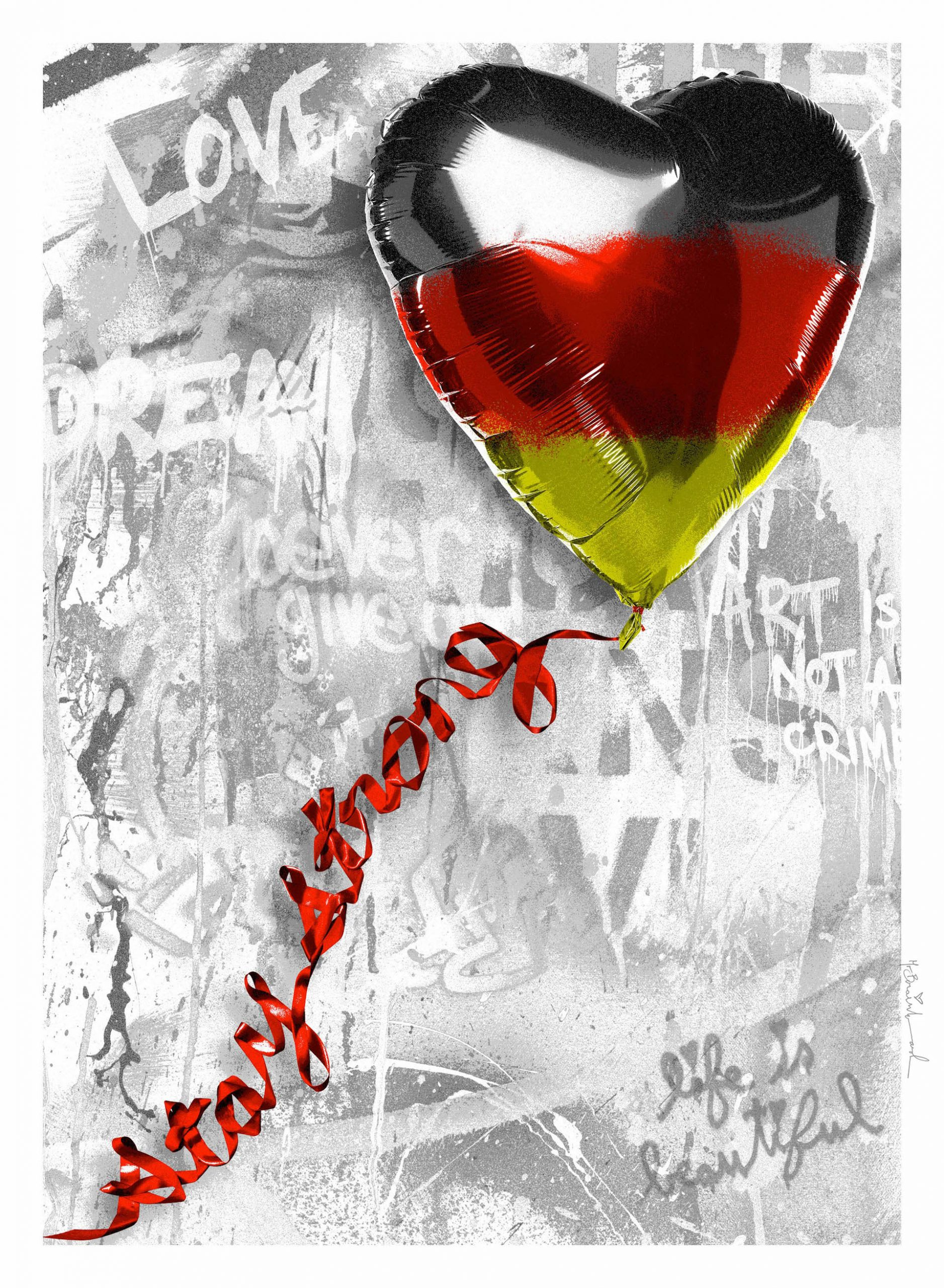 Germany Stay strong by Mr. Brainwash