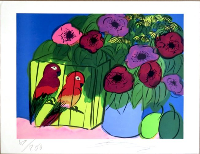 Parrots by Walasse Ting at