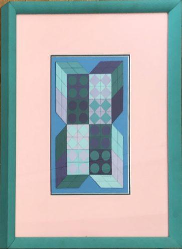 Sans Titre Bleu by Victor Vasarely