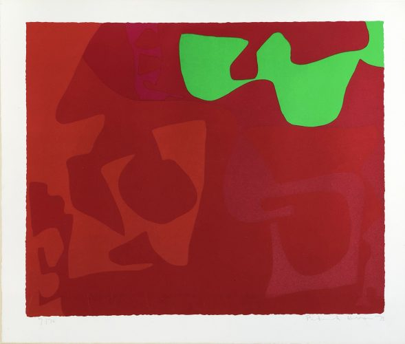 Small Red January 1973: 2 by Patrick Heron at Fairhead Fine Art