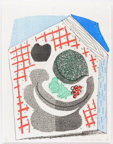 Bowl of Fruit, April 1986 by David Hockney
