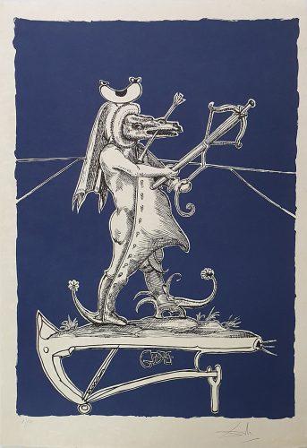 """""""Les Songes Drôlatiques de Pantagruel"""" (Plancha 73-7-W) by Salvador Dali"""