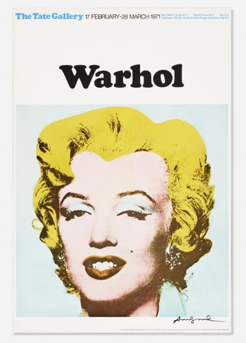 Marilyn Exhibition Poster for Warhol: The Tate Gallery by Andy Warhol