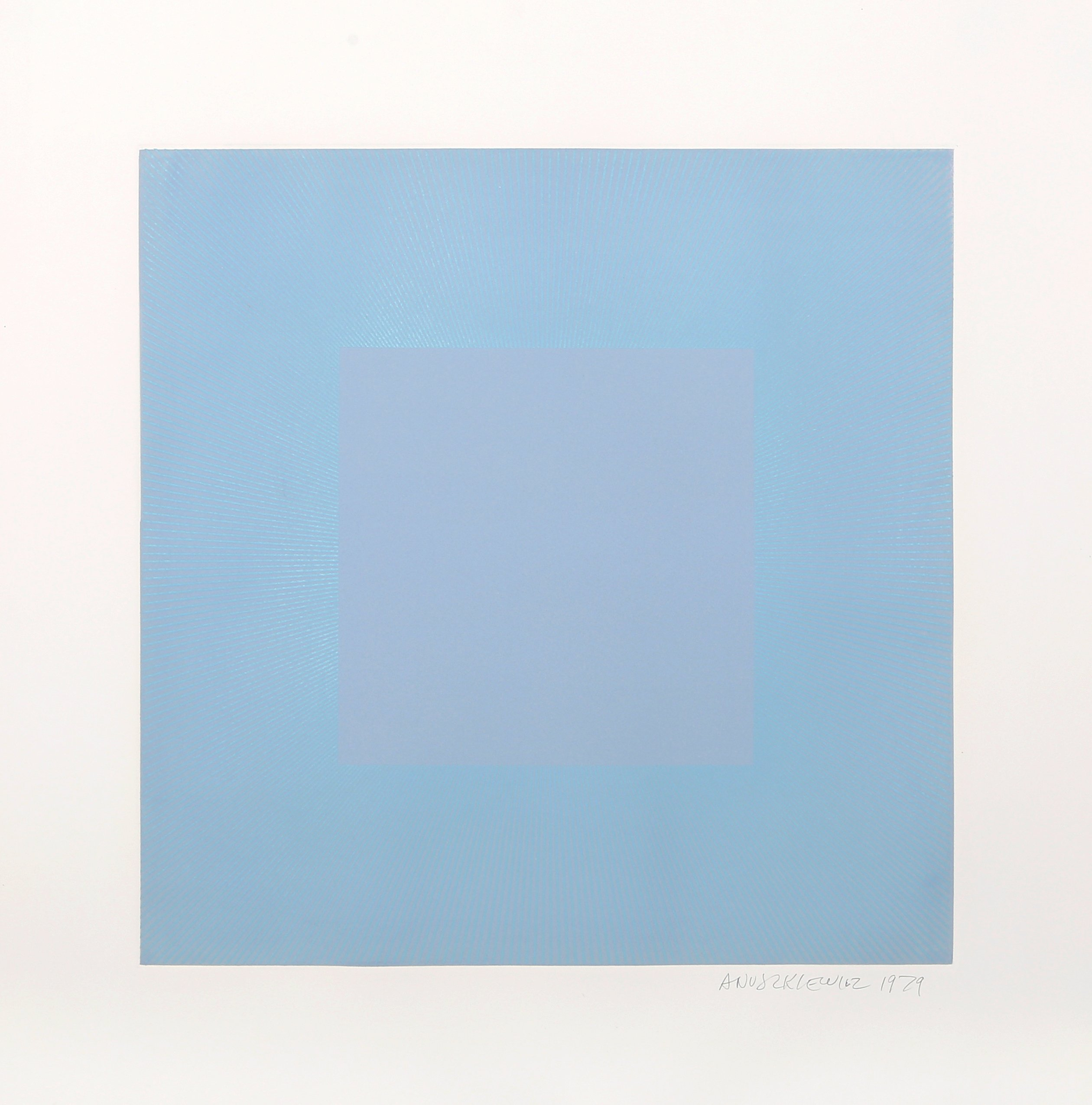 Winter Suite (Light Blue with Blue) by Richard Anuszkiewicz