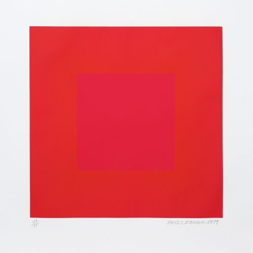 Summer Suite (Red with Gold IV) by Richard Anuszkiewicz