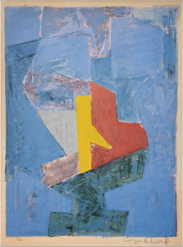 Composition bleu, jaune et rouge by Serge Poliakoff