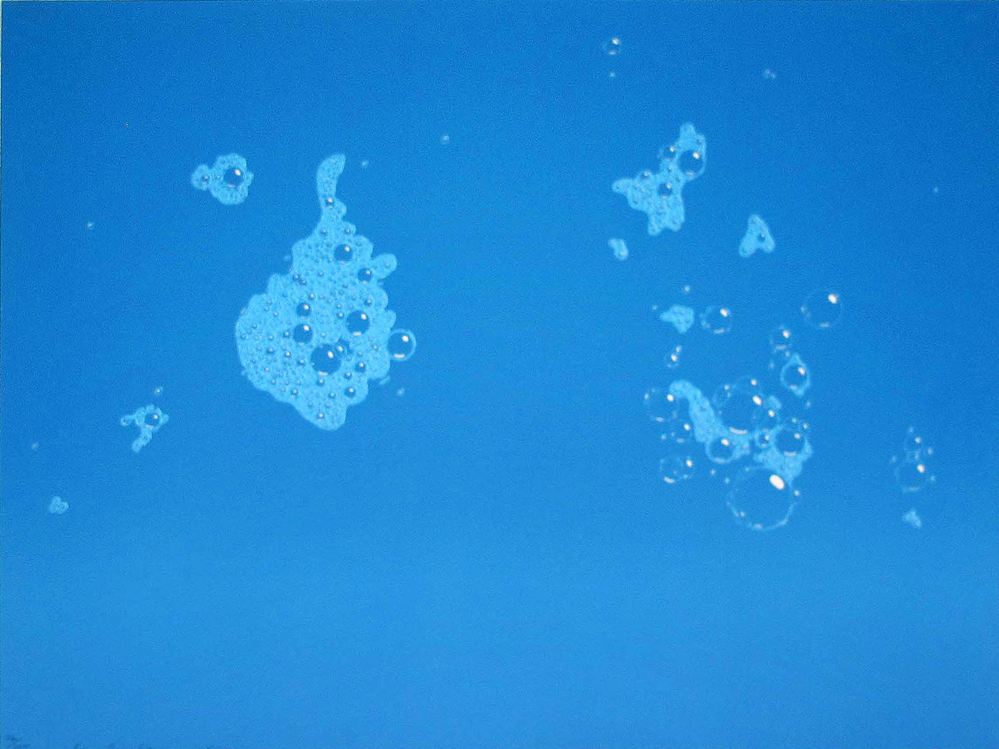 Blue Suds by Ed Ruscha
