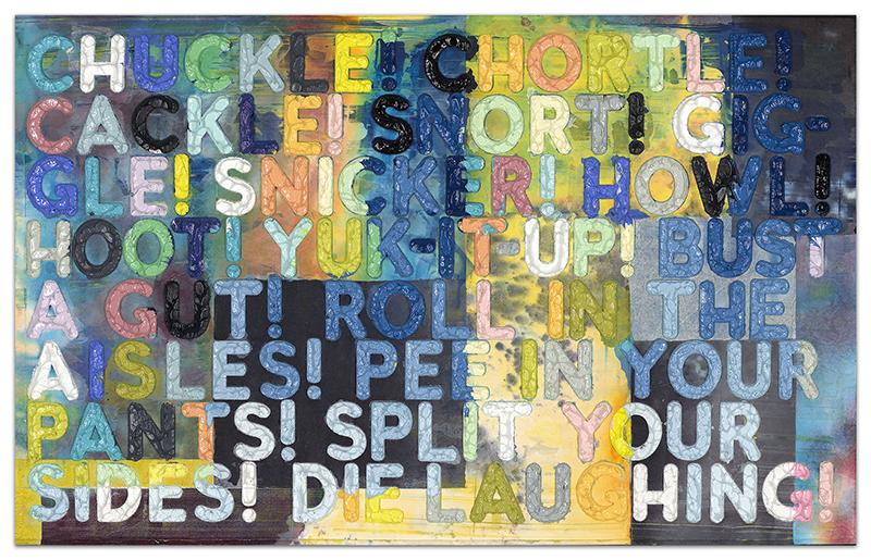 Chuckle by Mel Bochner