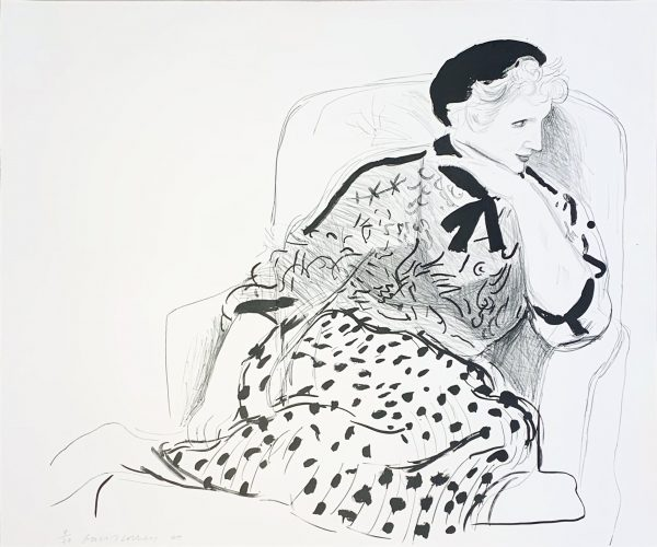 Celia in an Arm Chair by David Hockney