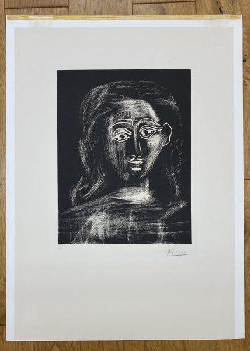 Jacqueline aux chevaux flous, en buste by Pablo Picasso at Pablo Picasso