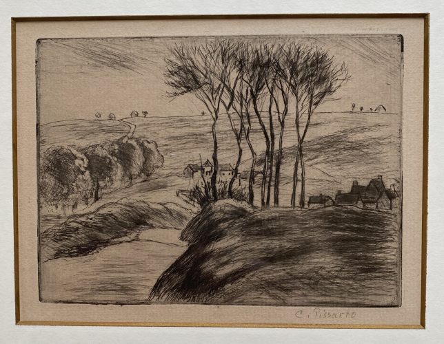 Paysage a Osny by Camille Pissarro