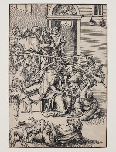 Dornenkrönung Christi (Christ crowned with Thorns) by Lucas Cranach at