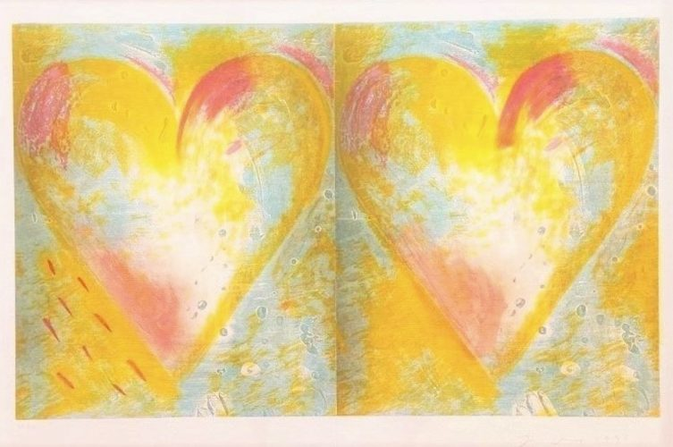 Two Hearts for Best Buddies by Jim Dine