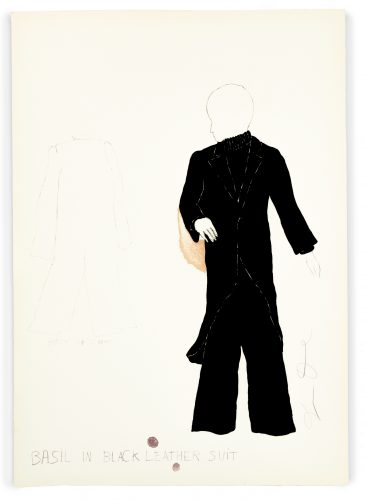 """Basil in Black Leather Suit from """"The Picture of Dorian Gray"""" by Jim Dine"""