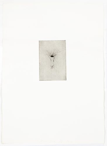 Tool Drypoint: Bottle opener by Jim Dine