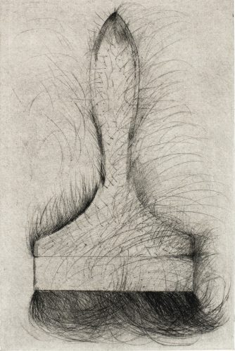 Tool Drypoint: Paintbrush by Jim Dine