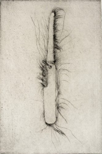 Tool Drypoint: Hand saw by Jim Dine