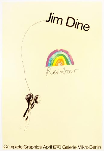 Galerie Mikro (Scissors and Rainbow 1969) by Jim Dine at Petersburg Press