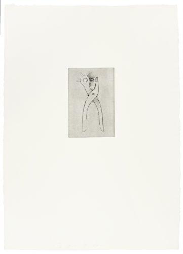 Hole Punch (30 Bones of My Body portfolio) by Jim Dine