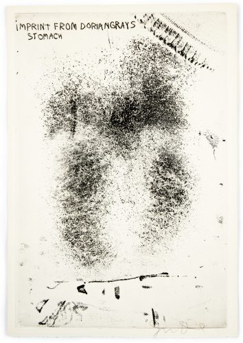 """Imprint from Dorian Gray's Stomach from """"The Picture of Dorian Gray"""" by Jim Dine at Petersburg Press"""