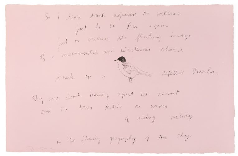 """So I leaned back (from """"Oo la la"""" portfolio) with Ron Padgett poem by Jim Dine at Petersburg Press"""