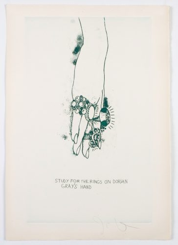 """Study for the Rings on Dorian Gray's Hand from """"The Picture of Dorian Gray"""" by Jim Dine"""