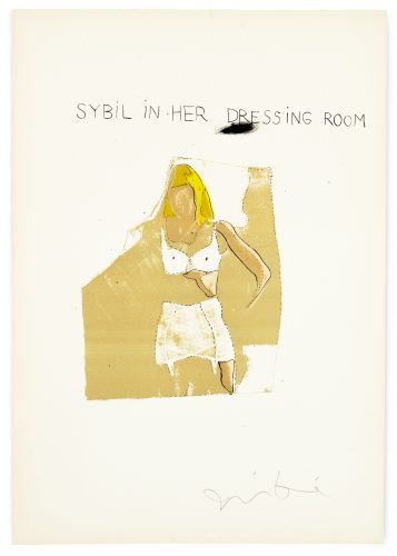 """Sybil in her Dressing Room from """"The Picture of Dorian Gray"""" by Jim Dine"""