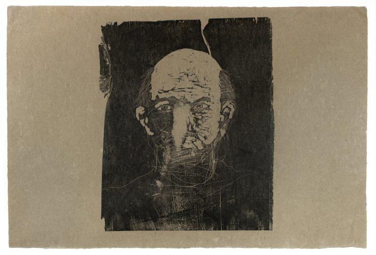 Woodcut Self Portrait by Jim Dine at Petersburg Press