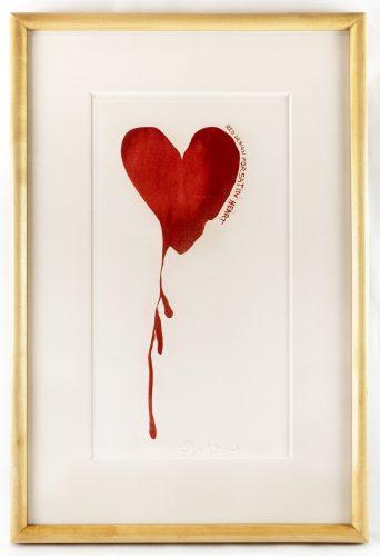 Design for Red Heart (framed) by Jim Dine