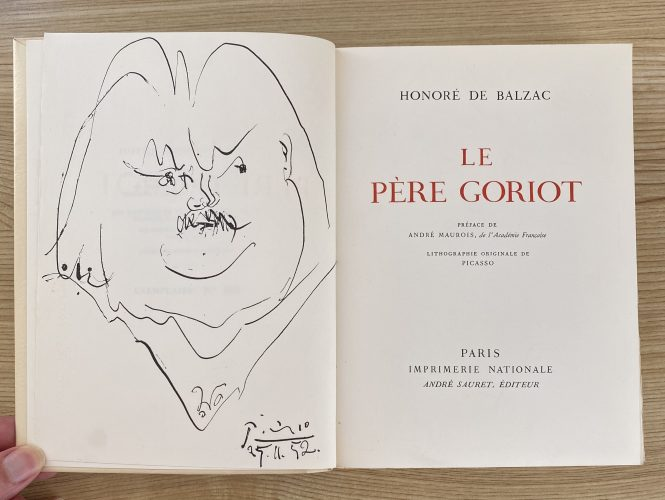 Le Pere Goriot by Pablo Picasso at