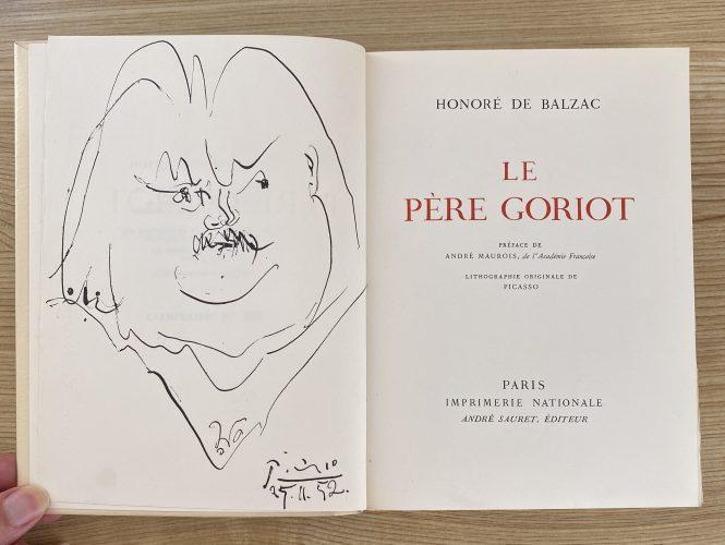 Le Pere Goriot by Pablo Picasso
