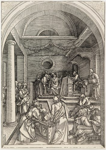 Christ Among the Doctors by Albrecht Durer at Christopher-Clark Fine Art