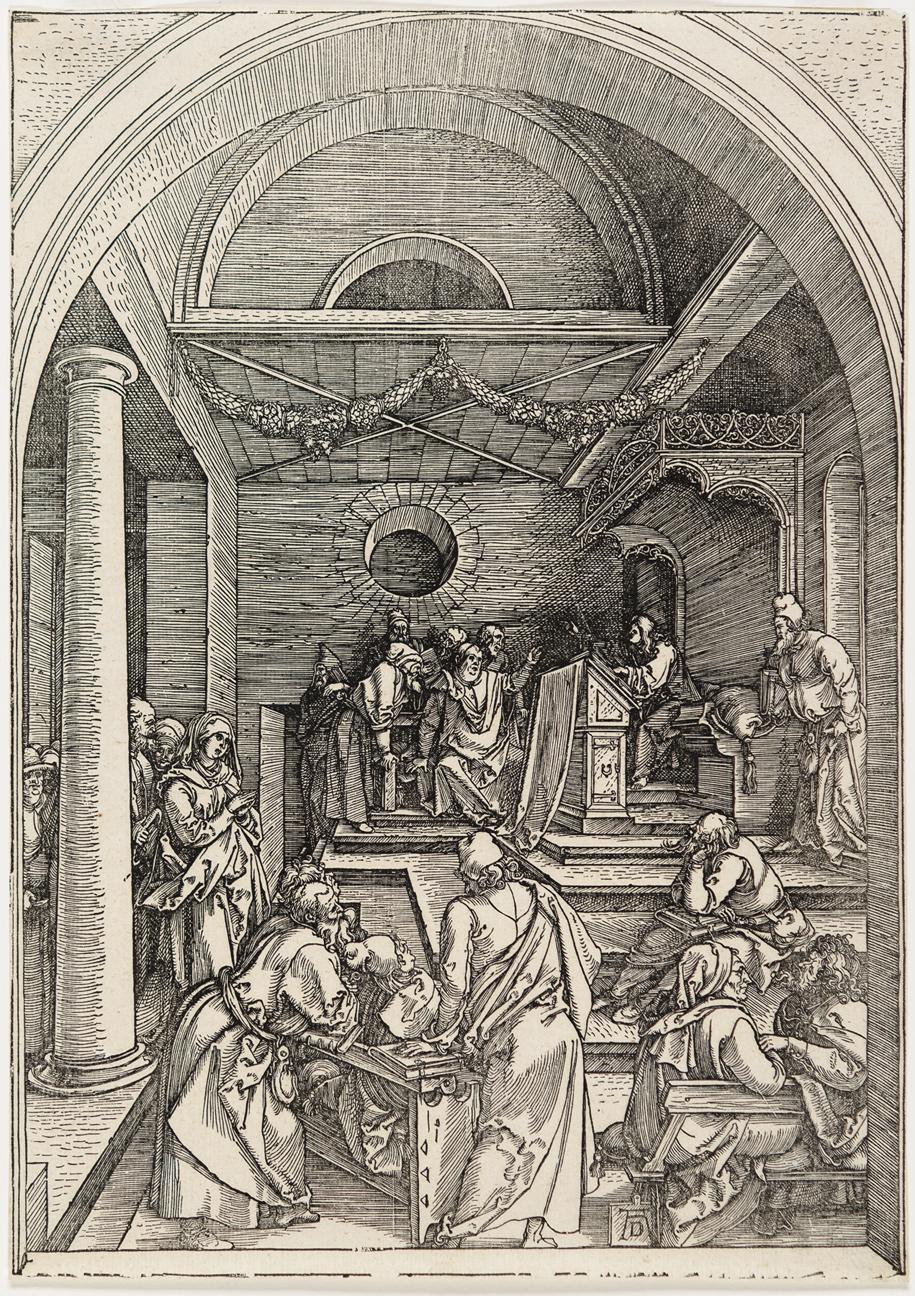 Christ Among the Doctors by Albrecht Durer
